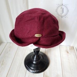 Villager by Liz Claiborne Burgendy Wool Hat